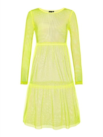 LMTD Girls Kjole Harissa Safety Yellow Transparent