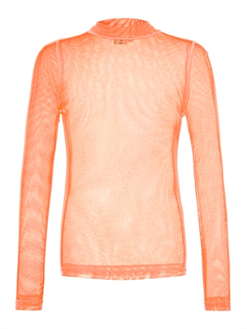 LMTD Girls top Harissa turtleneck l/s Fiery red Transparent
