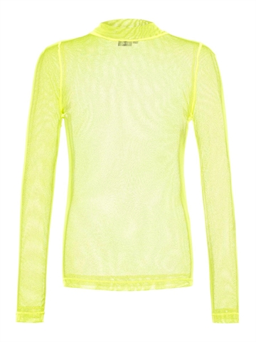 LMTD Girls top Harissa turtleneck l/s Safety Yellow Transparent