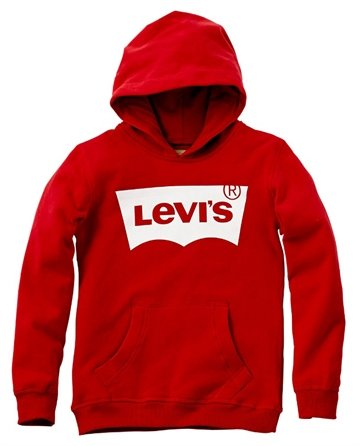 Levis Junior Sweat hættetrøje Logo Red Unisex