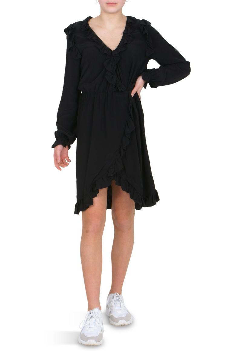 332313fe81a0 Little Remix Nini ruffle dress col. 050 Black