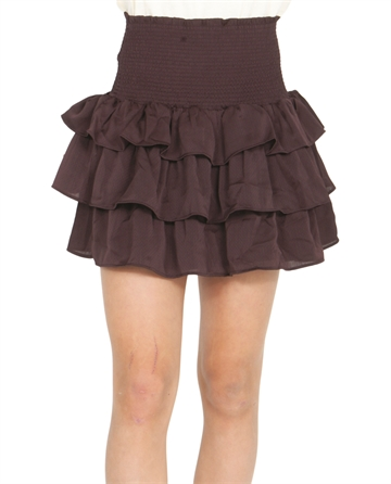 Little Remix Elda Ruffle Skirt Rouge Noir
