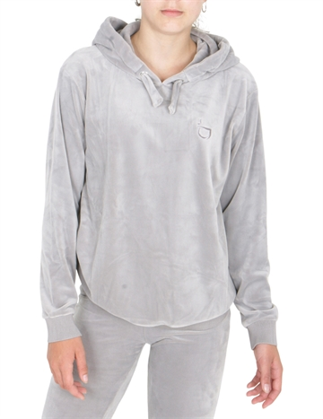 Little Remix Frances Velour Hoodie Grey