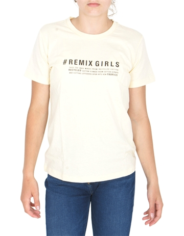 Little Remix Stanley Text Tee Light Dusty Yellow