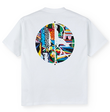 Polar Skate Co T-shirt Memory Palace Fill Logo White