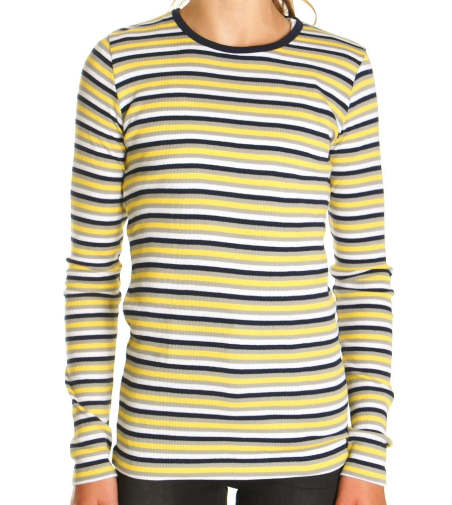 1f5ecb4fec0 Mads Nørgaard Bluse Soft Stripe Talino Play Yellow/Grey/Navy