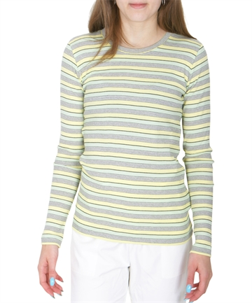 Mads Nørgaard Bluse 2x2 Stripy Pastel Yellow