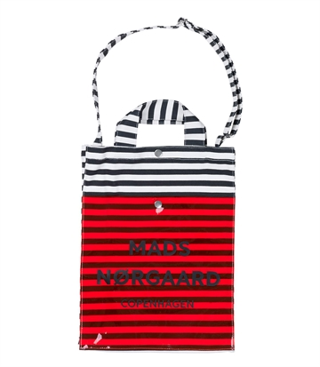Mads Nørgaard Tote Bag Black/White/Red