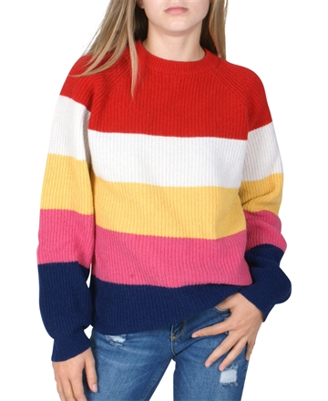 Mads Nørgaard Sweater Strik Cash Stripe Butique multi