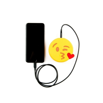 Mojipower Emoji Powerbank Kissing Wink