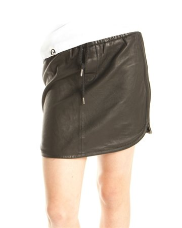 MDK skirt Sugar black leather