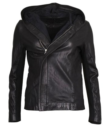 MDK Stine Hood Leather Black