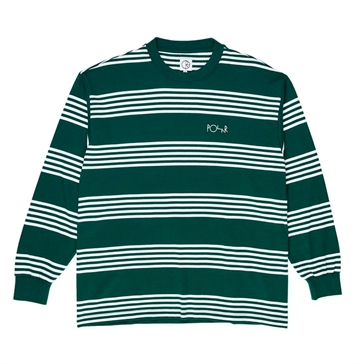 Polar Skate Co Surf T-shirt L/S Stripe Green