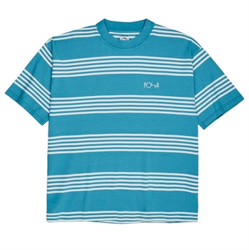 Polar Skate Co Surf T-shirt S/S Stripe Blue