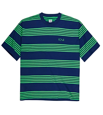 Polar Skate Co Surf T-shirt S/S Stripe Dark Blue / Green