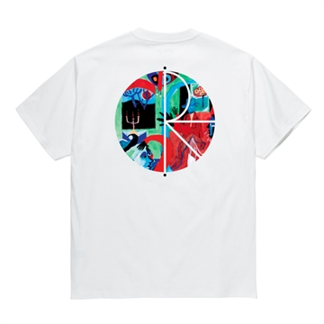 Polar Skate Co T-shirt Moth House Fill Logo White