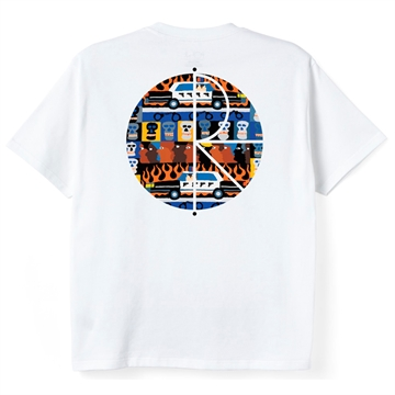 Polar Skate Co T-shirt Acab Fill Logo White