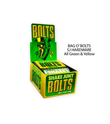 Shake Junt Bolts 7/8 Allen all green and yellow