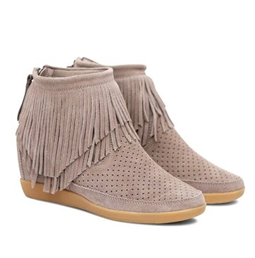 Shoe The Bear Sko Emmy Fringes Taupe