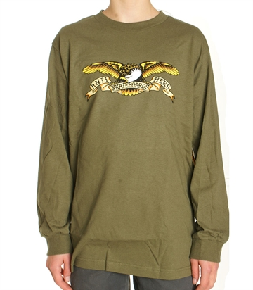 Anti Hero Tee l/s Adult Eagle military green