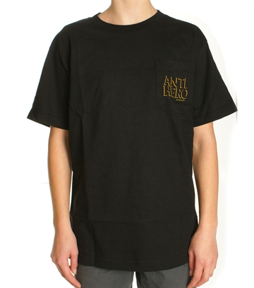 Anti Hero Tee Adult Pocket Black