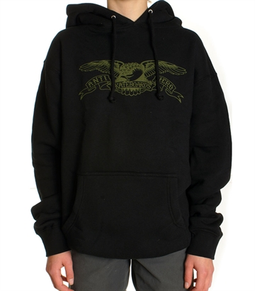Anti Hero Hoodie Adult Eagle Black