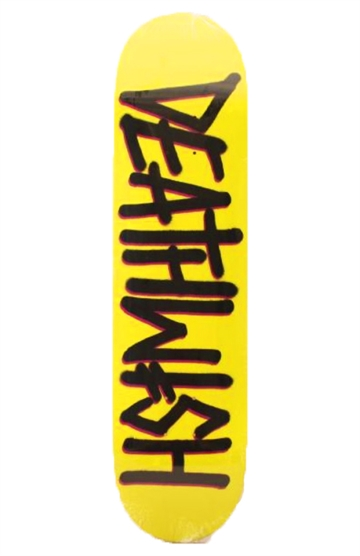 DeathWish Skateboard Logo Yellow 8,125