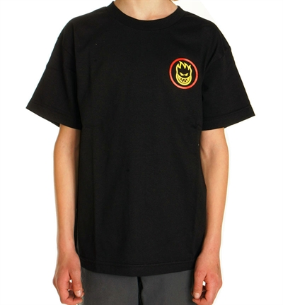 Spitfire T-shirt Youth Classic Swirl Black/Red/Yellow