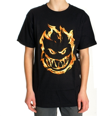 Spitfire Tee Youth Premium Print Black