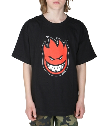 Spitfire T-shirt Youth Classic Bighead Fill Black