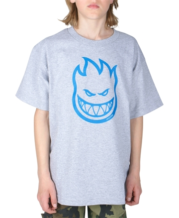 Spitfire T-shirt Youth Classic Bighead Grey / Blue