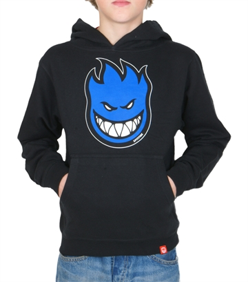 Spitfire Hoodie youth BigHead fill black/blue