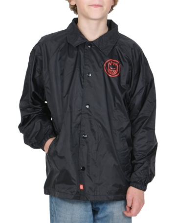 Spitfire Coach Jacket Youth Classic Swil black/red