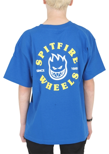 Spitfire T-shirt s/s Blue w. Backprint