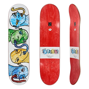 Polar Skate Co Board Team Kissing Heads White 8,125
