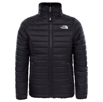 The North Face Girls Reversible Mossbud swirl Jacket Black