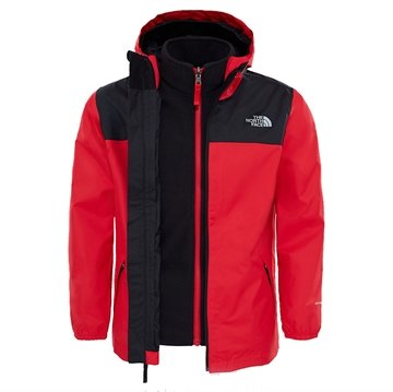 The North Face Boy´s Elden Rain Triclimate Jacket Red