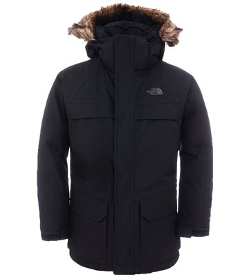 The North Face Boy´s McMurdy Down Parka Black