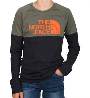 The North Face Tee l/s Easy Taupe Green