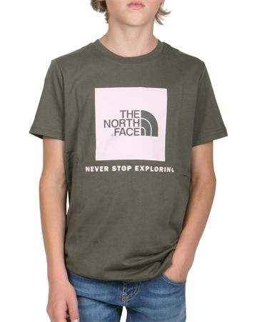 The North Face T-shirt Box s/s Taupe Green / rose