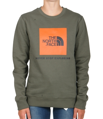 The North Face Box Drew  sweatshirt crewneck Taupe Green