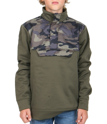 The North Face Surgent Fleece 1/4 Zip New Taupe Green
