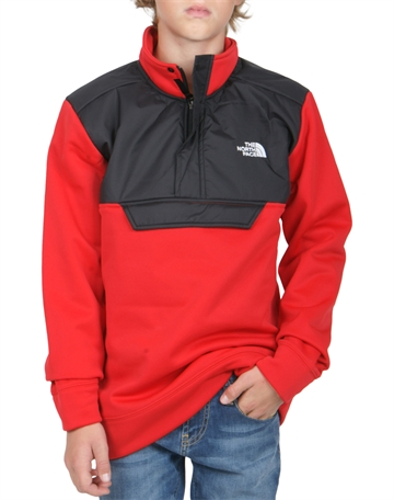 The North Face Surgent Fleece 1/4 Zip Red