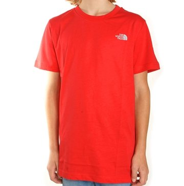 The North Face Junior T-shirt Dome Red 149,-