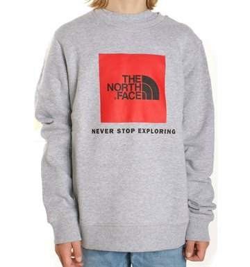The North Face Sweatshirt Box Drew Peak Light Grey Heather