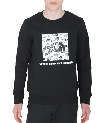 The North Face Sweat Y Box Crew Black Label Toss Print