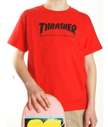 Thrasher tee Junior logo rød 299,-