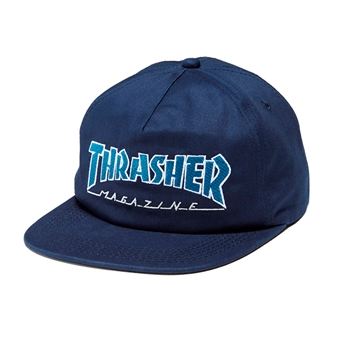 Thrasher Snapback Outlined Navy/Grey