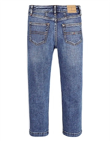 Tommy Hilfiger Girls High Rise Tapered Jeans Mexi Blue