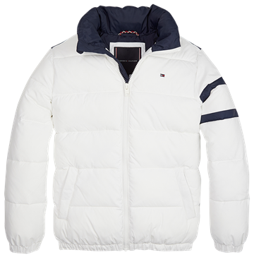 Tommy Hilfiger Boys Jacket Padded Puffer Bright White 04942